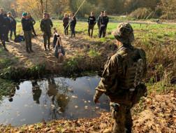 Pierwsza wizyta w tym roku szkolnym w 102 batalionie ochrony