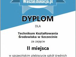 II miejsce w szczecińskim plebiscycie szkół średnich