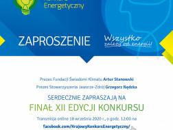 Finał online Krajowego Konkursu Energetycznego 18.09.2020r.