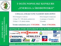I Ogólnopolski Konkurs ENERGIA A ŚRODOWISKO