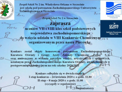 VIII Konkurs chemiczny - ogłoszenie